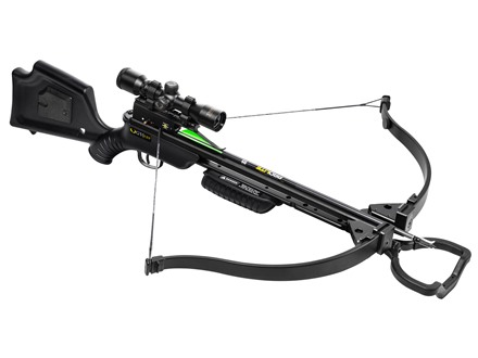 TenPoint GT Flex Recurve Crossbow Package with 3X Multi-Line Scope Black