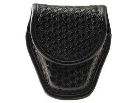 Bianchi 7917 AccuMold Elite Double Cuff Case Hidden Snap Basketweave Nylon Black