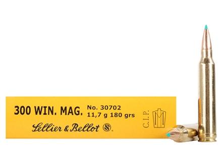 Sellier & Bellot Ammunition 300 Winchester Magnum 180 Grain Polymer Tip Box of 20