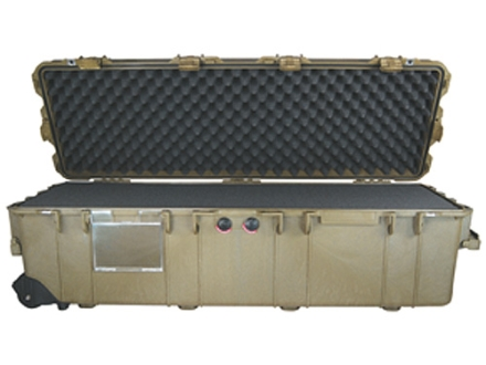Pelican 1740 Scoped Rifle Gun Case with Solid Foam Insert and Wheels