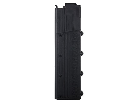 Olympic Arms Magazine AR-15 9mm Luger 30-Round Polymer Black