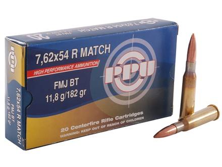 Prvi Partizan Match Ammunition 7.62x54mm Rimmed Russian 182 Grain Full Metal Jacket Box of 20