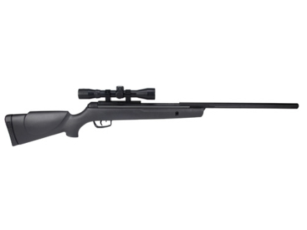 Gamo Big Cat 1250 Air Rifle 177 Caliber Pellet Black Synthetic Stock Blue Barrel with Gamo Airgun Scope 4x 32mm Matte