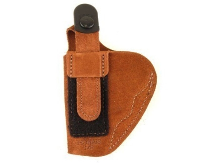 Bianchi 6D ATB Inside the Waistband Holster Right Hand Beretta 92, 96, 8040 Cougar, Colt Double Eagle, S&W 1006, 4506, 4546, Taurus PT92, PT99, TZ75 Suede Tan