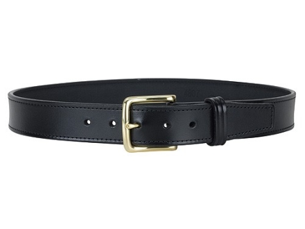 "Gould & Goodrich B191 Dress Belt 1-1/2"" Brass Buckle Leather Black 38"""