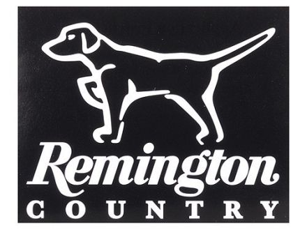 Remington Country Dog on Point Decal White
