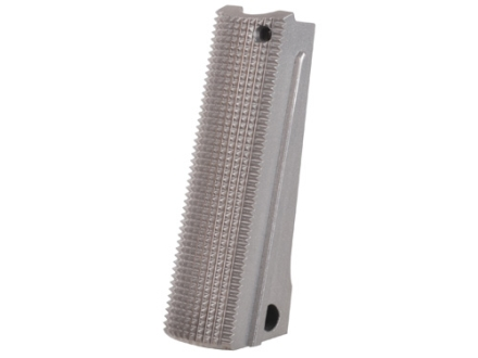 Nighthawk Custom Mainspring Housing Flat 1911 Government, Commander Checkered 25 LPI Stainless Steel