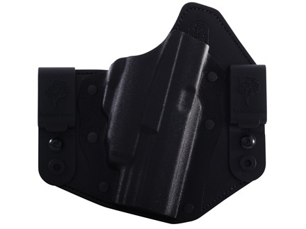 "DeSantis Intruder Inside the Waistband Holster Right Hand Springfield XDM 4.5"" with Crimson Trace CRM201 Kydex and Leather Black"