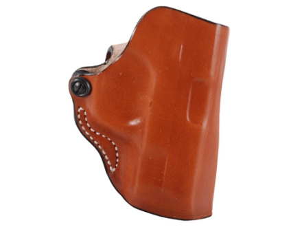 DeSantis Mini Scabbard Outside the Waistband Holster Right Hand Smith & Wesson M&P Compact 9mm, 40 S&W Leather Tan