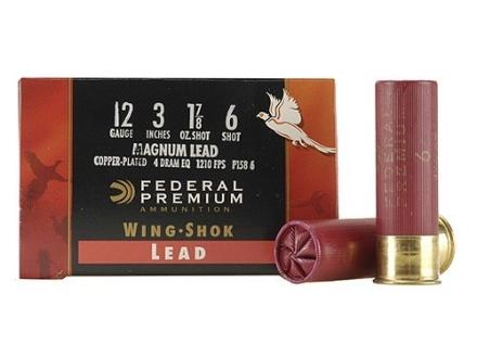 "Federal Premium Wing-Shok Ammunition 12 Gauge 3"" 1-7/8 oz Buffered #6 Copper Plated Shot Box of 25"
