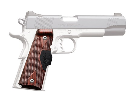 Crimson Trace Lasergrips 1911 Government, Commander Front Activation Polymer Rosewood with Kimber Logo