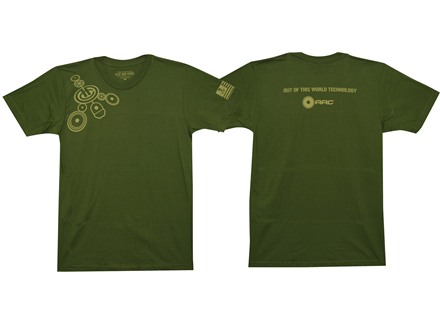Advanced Armament Co (AAC) Crop Circles T-Shirt Short Sleeve Cotton Green Medium