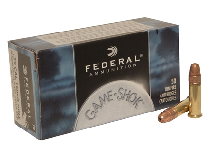 Federal Game-Shok Ammunition 22 Long Rifle High Velocity 38 Grain Plated Lead Hollow Point Box of 500 (10 Boxes of 50)