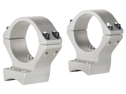 Talley Lightweight 2-Piece Scope Mounts with Integral 30mm Rings Browning X-Bolt Silver Medium