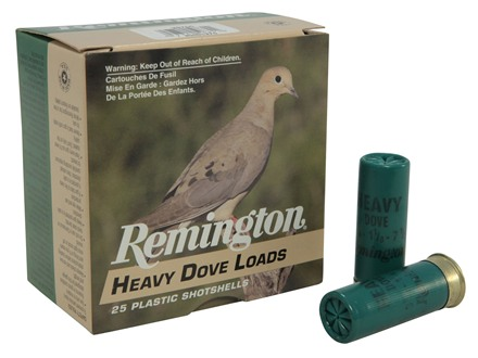 "Remington Heavy Dove Ammunition 12 Gauge 2-3/4"" 1-1/8 oz #7-1/2 Shot Box of 25"