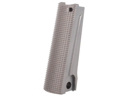 Nighthawk Custom Mainspring Housing Flat with Magazine Well 1911 Government, Commander Checkered 25 LPI Stainless Steel