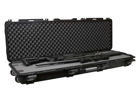 "Plano Military Spec Field Locker Double Rifle Case with Wheels 56-1/4"" x 18"" x 7-1/4"" Polymer Black"