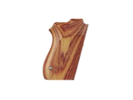Hogue Fancy Hardwood Grips S&W 4516, 4013, 4053 Checkered Tulipwood