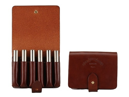 Galco Belt Rifle Ammunition Carrier 6-Round 450, 470, 500 Nitro Express Leather Brown