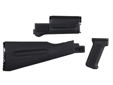 Arsenal, Inc. Complete Buttstock and Handguard Set Warsaw Pact Length AK-47, AK-74 Stamped Receivers Polymer Black