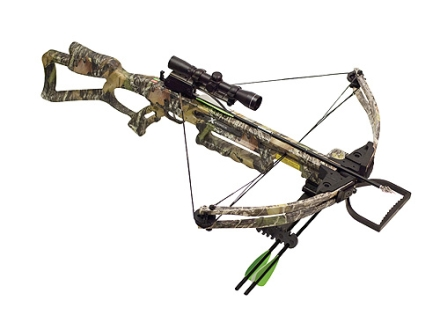 Carbon Express X-Force 300 DX Crossbow Package with 4x 32 Multi-Reticle Scope Mossy Oak Camo