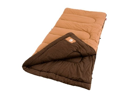 Coleman Dunnock 20-40 Degree Sleeping Bag Cotton Brown