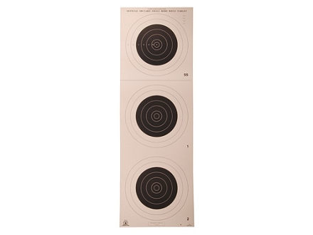 NRA Official Smallbore Rifle Target A-25 100-Yard Paper Package of 100