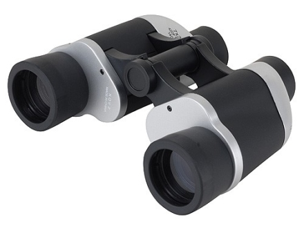 Barska Focus Free Binocular 7x 35mm Porro Prism Silver and Black