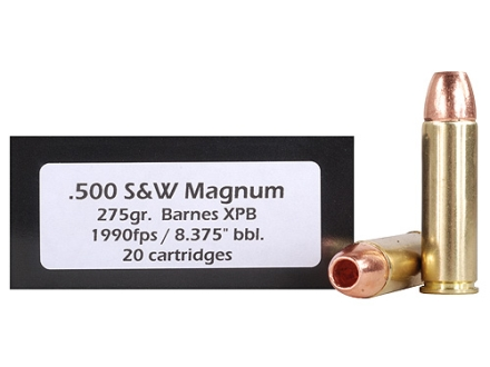Doubletap Ammunition 500 S&W Magnum 275 Grain Barnes XPB Hollow Point Lead-Free Box of 20