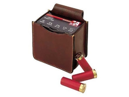 Galco Single Box Shot Shell Ammunition Carrier Leather Brown