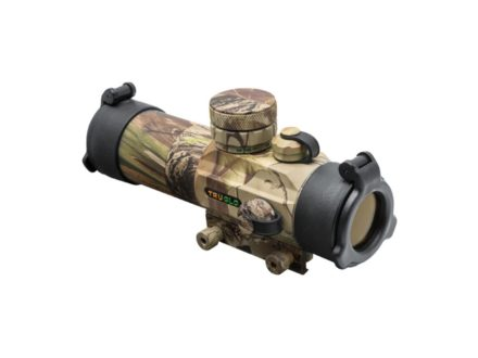 TRUGLO Gobble Stopper Red Dot Sight 30mm Tube 5 MOA Circle Dot Red and Green Reticle with Integral Weaver-Style Base Realtree APG Camo