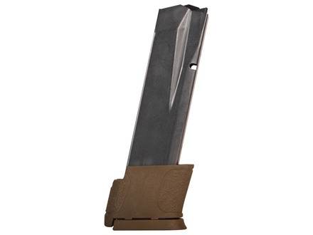Smith & Wesson Magazine S&W M&P 45 ACP 14-Round Steel PVD Matte with Brown Base Pad