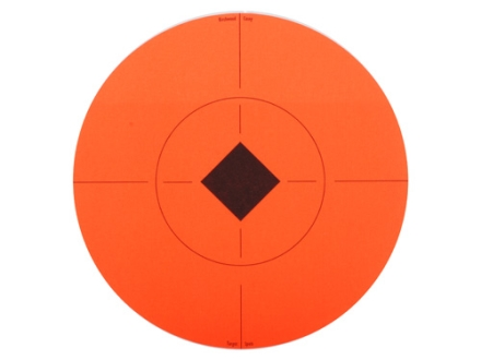 "Birchwood Casey Target Spots 8 Sheets containing 8"" Round Self Adhesive Targets Orange"