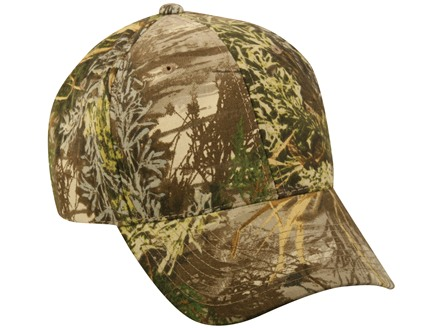 Outdoor Cap Mid-Profile Camo Cap Cotton Realtree Max-1 Camo