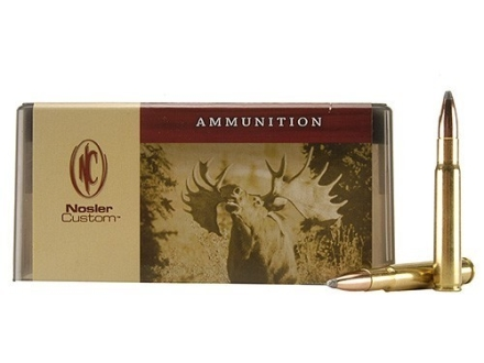 Nosler Custom Ammunition 338-06 A-Square 210 Grain Partition Spitzer Box of 20