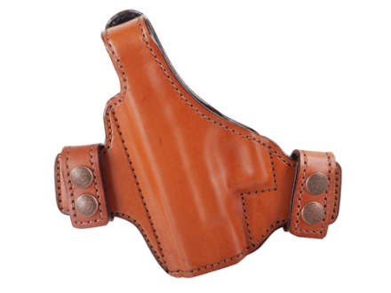 Bianchi Allusion Series 130 Classified Outside the Waistband Holster Left Hand Glock 26, 27, 33 Leather Tan