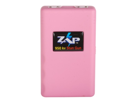 ZAP 950,000 Volt Stun Gun uses Three CR123A Batteries (Included) Polymer Pink
