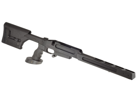 "JP Enterprises Chassis System (AMCS) With Bench Rest Forend Savage Short With 4.4"" Screw Spacing Action Black"