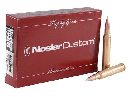 Nosler Trophy Grade Ammunition 300 Weatherby Magnum 180 Grain AccuBond Box of 20