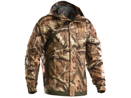 Under Armour Men's Armour Stealth Rain Jacket Polyester Mossy Oak Break-Up Infinity Camo Medium 38-40