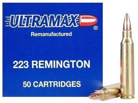 Ultramax Remanufactured Ammunition 223 Remington 55 Grain Full Metal Jacket