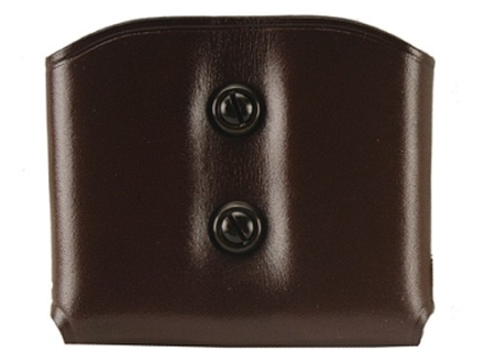 Galco DMC Double Magazine Pouch 40 S&W, 9mm Double Stack Magazines Leather Brown