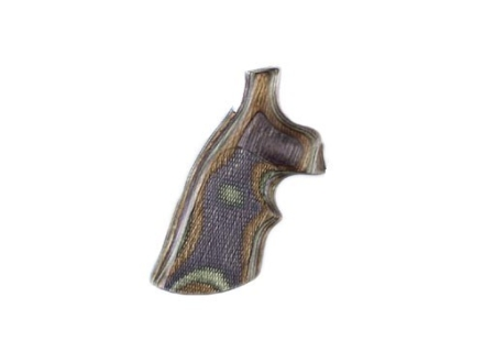 Hogue Fancy Hardwood Grips with Top Finger Groove Ruger Blackhawk, Single Six, Vaquero Checkered Lamo Camo