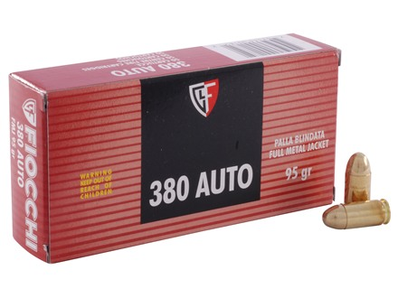 Fiocchi Shooting Dynamics Ammunition 380 ACP 95 Grain Full Metal Jacket Box of 50