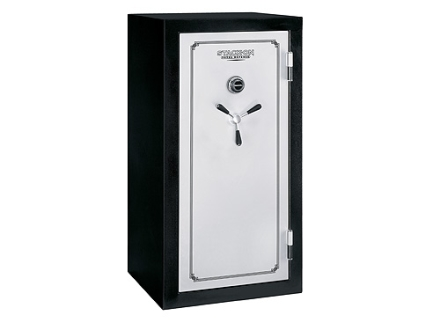 Stack-On Total Defense 28-Gun Fire-Resistant and Waterproof Safe with Combination Lock & Flex Interior Black/Silver