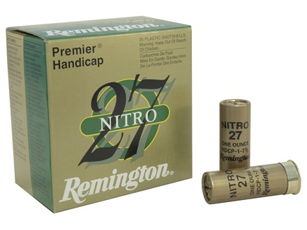 "Remington Premier Nitro 27 Gold Handicap Ammunition 12 Gauge 2-3/4"" 1 oz #7-1/2 Shot"