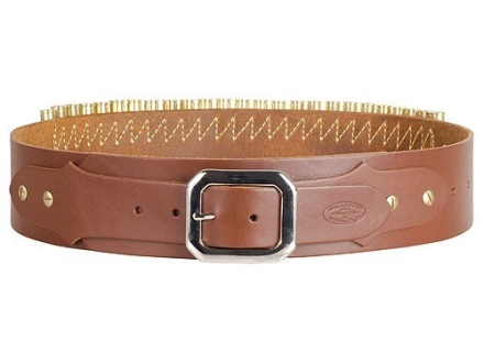 Hunter Adjustable Cartridge Belt 44, 45 Caliber Leather Tan