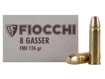 Fiocchi Ammunition 8mm Rast-Gasser 126 Grain Full Metal Jacket Box of 50