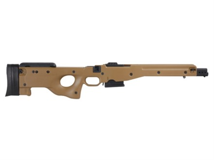 Accuracy International Chassis System (AICS) 1.5 Adjustable Stock Remington 700 Short Action 223 Remington 5-Round Magazine Dark Earth