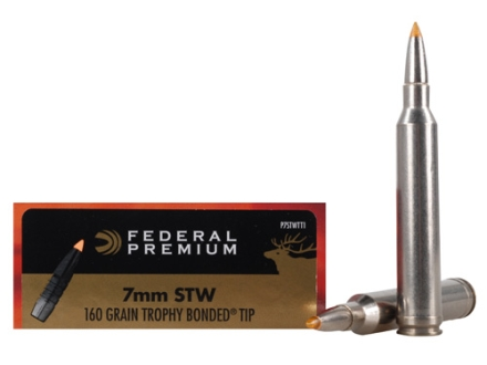Federal Premium Vital-Shok Ammunition 7mm STW 160 Grain Trophy Bonded Tip Box of 20